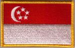 Singapore Embroidered Flag Patch, style 08.